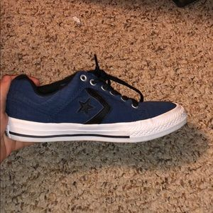 Little boys navy blue and black converse sneaker
